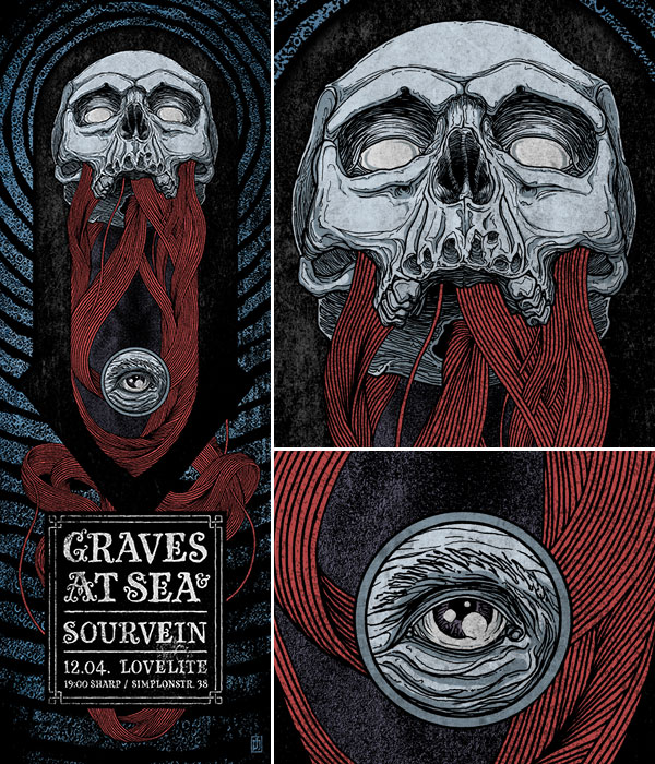 Poster Graves At Sea & Sourvein